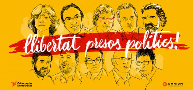 El Comitè de Solidaritat Catalana organitza un desplaçament amb autocar a Barcelona dissabte 11 de novembre. El poble català manifestarà per exigirl'alliberament dels presos polítics catalans. APUNTA'T AQUÍ